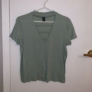 FOREVER 21 cut-out top